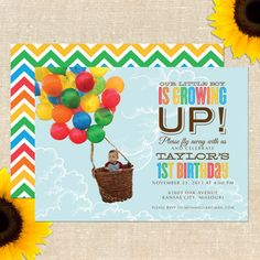Balloon birthday printable package in primary by letstopitoff up balloon birthday party invitation diy printable filmwisefo Image collections