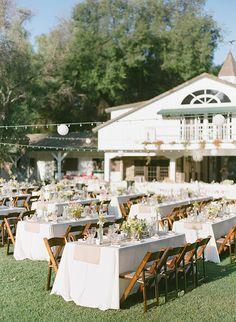 backyard reception,  photo by Valentina Glidden Photography http://ruffledblog.com/brookside-equestrian-wedding #wedding #weddingreception