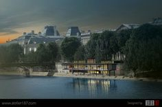 Competition piece designed by Atelier187 #design #architecture #competition #atelier #Atelier187 #Paris #France #International #Louvre #champagne #restaurant