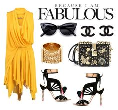 """""""Yellow"""" by emmaomeradzic ❤ liked on Polyvore featuring Sophia Webster, Balmain, Chloé, Dolce&Gabbana and Retrò"""
