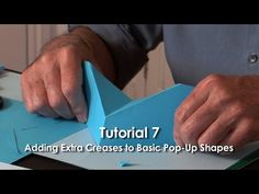 Tutorial 7 - Adding Extra Creases to Basic Pop-Up Shapes - YouTube