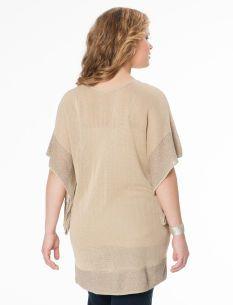 Plus Size Elbow Sleeve Scoop Neck Dolman Sleeve Maternity Sweater