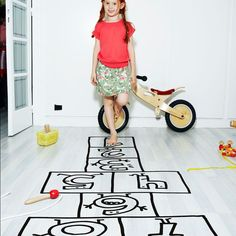 Chispum's wall decals allow you to play hopscotch in your own bedroom. ihaveyouneed.net