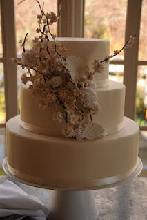 Wedding Cake with Branch