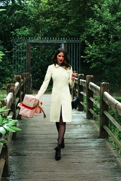 12/2011 White wool coat