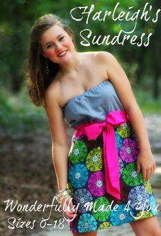 Harleigh's Sundress pdf pattern women & par WonderfulyMade4You, $8.00