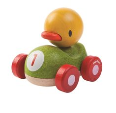 Duck Racer Träbil - PlanToys - Paddington's Leksaker