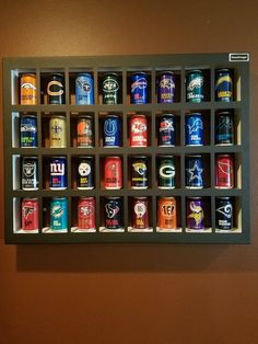 Your place to buy and sell all things handmade Home Decor Shelves, Display Shelves, Display Case, Dartboard Diy, Pink Mini Fridge, Beer Can Art, Metal Garden Art, Beer Garden, Picture Cards