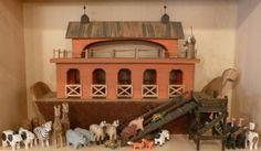 Millwood Toys Signed Barry Grosscup Primitive Folk Art Wood Noah's Ark & Animals in Art, Art from Dealers & Resellers, Folk Art & Primitives | eBay