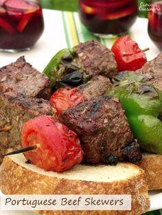 ... beef skewers tender juicy grilled beef seasoned with garlic and bay