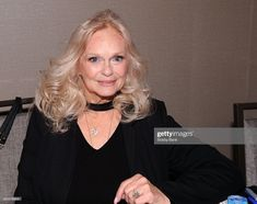 Lynda Day George attends Chiller Theatre Expo Spring 2018 at Hilton Parsippany on April 2018 in Parsippany, New Jersey. Get premium, high resolution news photos at Getty Images Lynda Day George, Christopher George, Classy Women, Beautiful Actresses, Bobby, Theatre, Chill, Knots Landing, Ruffle Blouse
