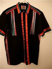 NATIVE AMERICAN style RIBBON SHIRT POWWOW REGALIA  L