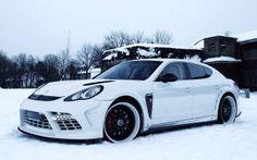 Porsche Panamera Turbo With Snow