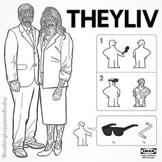 They Live IKEA Instructions On How To Spot A Fake.
