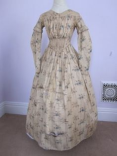 1840s cotton dress by pseitas, via Flickr