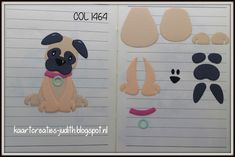 "Kaarten en Creaties van Judith: Collectables 1464 ""Puppy"" Punch Art, Arte Punch, Felt Crafts, Diy And Crafts, Puppy Crafts, Kids Punch, Animal Cutouts, Marianne Design Cards, Canson"