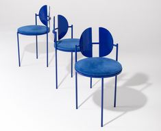 The Qoticher Round Dining Chair is a great contemporary design representative: thin and elegant, her deep blue color will bring modernity to any home. Contemporary Dining Chairs, Modern Chairs, Contemporary Furniture, Contemporary Design, Old Chairs, Metal Chairs, Pink Chairs, Rattan Chairs, Unique Furniture