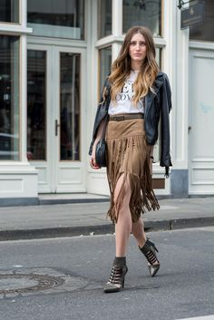 20 Inspiring Outfits That Show You How to Rock Fringe This Spring | StyleCaster