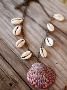 Beach & Cowrie Shell Necklace
