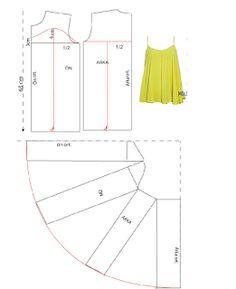 KALIP DERSLERİ: Tişort kalıbı üzerine model uygulama 8