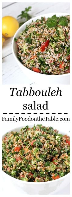 An easy tabbouleh salad with bright, fresh flavors from the parsley, mint and lemon