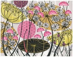 Angie Lewin 'Spey Path III' linocut http://www.angielewin.co.uk/products/spey-path-iii