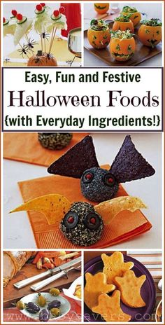 5 easy Halloween party food ideas with everyday ingredients!
