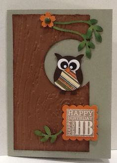 Stampin Up Owl punch card …