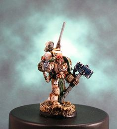 "40k - Death Guard Marshal Durak Rask by Mihalis ""Cadaver"" Skalkos, via Flickr"