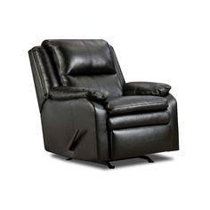 Simmons Upholstery Soho Bonded Leather Rocker Recliner & Reviews   Wayfair