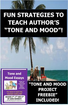 """AUTHENTIC AND FUN TEACHING STRATEGIES TO TEACH """"TONE AND MOOD""""! TONE AND MOOD """"FREEBIE"""" PROJECT INCLUDED!"""