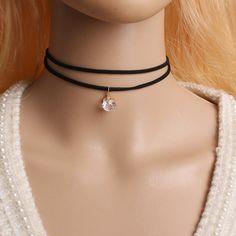 torques Bijoux Fashion crystal Pendant Necklace