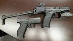 The B&T USW...making my Glock 43 feel insignificant  Currently, only 5 of these badboys exist in the US
