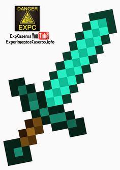 Espada de Minecraft Casera, Minecraft en la vida real, minecraft, minecraft…