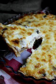 Αλμυρή τάρτα με μπέικον, μανιτάρια και τυριά ⋆ Cook Eat Up! Pies