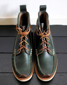 614c2820b178 benkb  melancholiceuphoria  Ready for Autumn. Yuketen Maine Guide boots in  Loden Green.