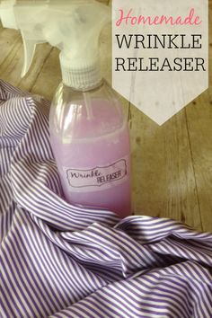 Tired of wrinkled clothes? Try this simple wrinkle releaser spray. It's so much cheaper than the store bought, but works just as well.