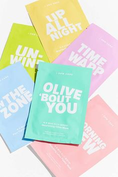 Shop I Dew Care Let's Get Sheet Faced 14 Day Sheet Mask Set at Urban Outfitters today. We carry all the latest styles, colors and brands for you to choose from right here. Skincare Packaging, Beauty Packaging, Beauty Care, Beauty Skin, Sheet Mask, Packaging Design Inspiration, Facial Masks, Korean Beauty, Korean Makeup