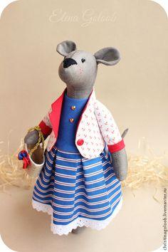 Мышка в морском стиле Tooth Mouse, Pasta Flexible, Soft Dolls, Handmade Toys, Stuffed Animals, Teddy Bear, Friends, Crafts, Baby Dolls