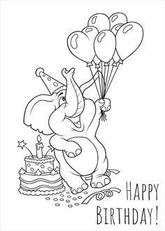 Coloring Birthday Cards, Birthday Cards To Print, Happy Birthday Coloring Pages, Free Printable Birthday Cards, Free Birthday Card, Birthday Cards For Boys, Birthday Wishes Cards, 50 Birthday, Free Printables