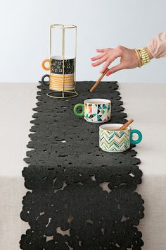 Stackable mix-and-match mugs!