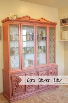 Coral Kitchen Hutch