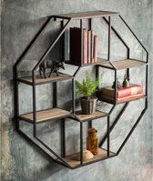 Vintage Decor Ideas Vagabond Vintage Iron and Wood Hexagonal Shelf - Iron and Wood Wall Shelf. Product Description Product Dimensions: x x SKU: M-HEX-SHELF Brand: Vagabond Vintage Iron Furniture, Steel Furniture, Farmhouse Furniture, Furniture Design, Furniture Ideas, Pallet Furniture, Furniture Makeover, Furniture Online, Repurposed Furniture
