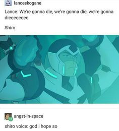 VLD spoof - Shiro's reactions to death situations is disconcerting to fans