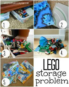 Lego Storage Problems SOLVED! Brilliant!!!  Problem:  Drew obsessively keeps all boxes and keeps each lego piece in the correct box.