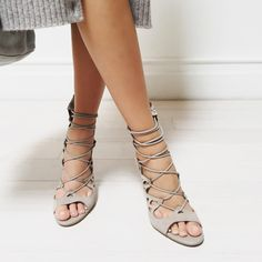 """9a6762e22c28 REVOLVEclothing on Instagram  """" tuesdayshoesday in our perfectly grayish  nudish sandy  joie clothing lace"""
