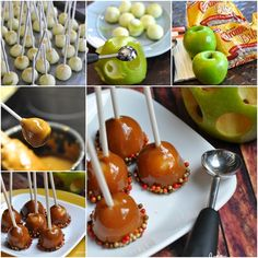 DIY Mini Caramel Apple Lollipop This mini caramel apple lollipop is very easy to make. It is a great choice for kids birthday party at home or school.