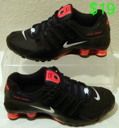 huge selection of b186a fc447 New Nike Shoes Shox NZ EU Black Red Womens Sizes 7, 8, and 9  Nike   RunningCrossTraining