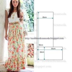 Find a great selection of skirt designs and learn how to design your own skirts for any figure, style, or size. You'll have professionally looking and stylish skirts. Sloper Pattern The first step … Read Diy Clothing, Sewing Clothes, Clothing Patterns, Dress Patterns, Fashion Sewing, Diy Fashion, Robe Diy, Diy Kleidung, Diy Dress