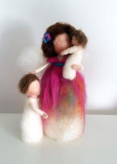angelo in lana cardata famiglia stile Waldorf  di nearteneparte